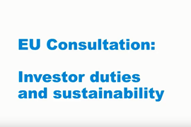 EU consultation on investor duties and sustainability