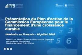 Présentation du Plan d'Action de la Commission Européenne sur la finance durable en Français