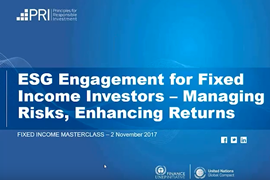 Webinar on ESG engagement for fixed income investors
