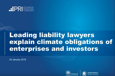 Leading liability lawyers explain climate obligations of enterprises and investors
