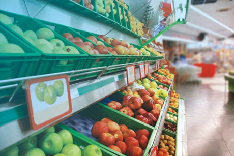 Close-up of a supermarket