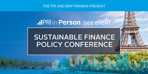 Sustainable Finance Policy Conference | Events | PRI