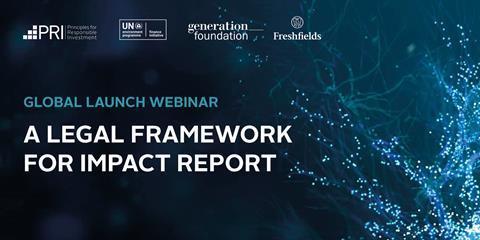 Global launch webinar - A Legal Framework for Impact Report 2