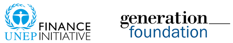 UNEP FI and Generation Foundation logos