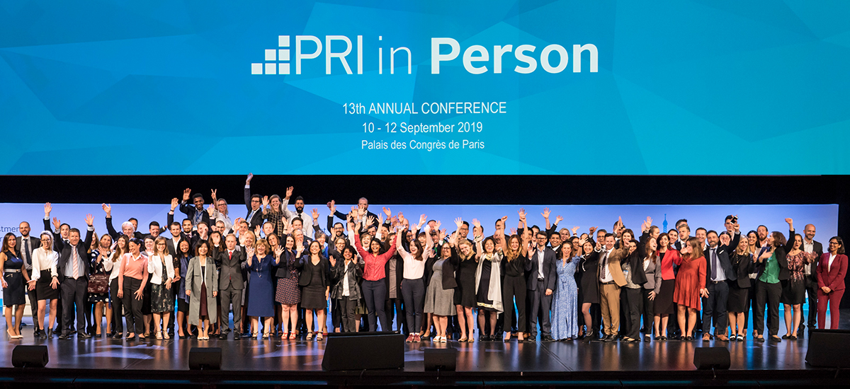 PRI in Person 2019 staff, Paris